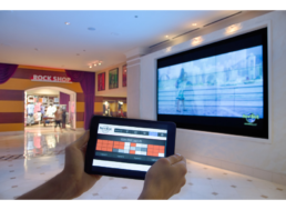 Hotel Lobby LCD Video Wall Control