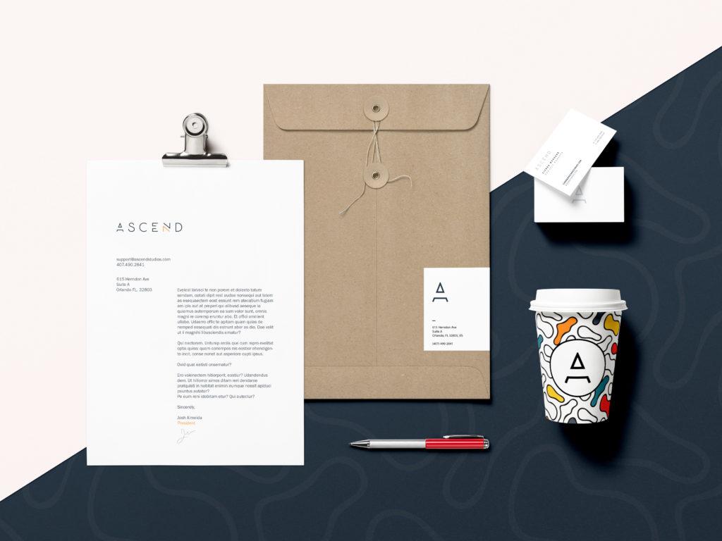Ascend Brand Identity Mockup