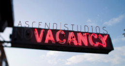 Ascend Studios Vacancy Hiring Sign