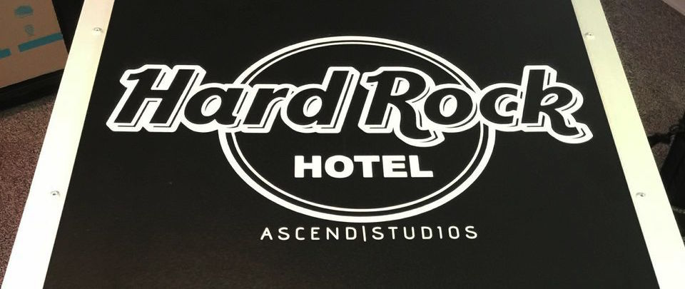 Hard Rock Hotel AV System Sign