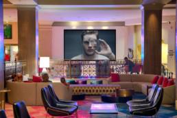 LCD Video Wall in Hard Rock Hotel