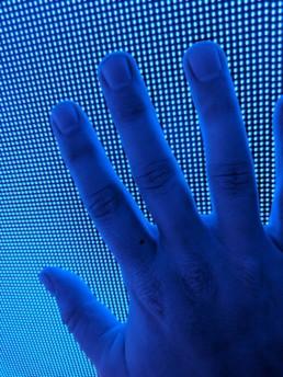 LED Video Wall Pixels Close Up