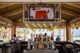 Restaurant AV System with Outdoor Displays