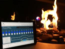 AV System Control of Fire Pit