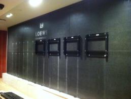 Hotel LCD Video Wall Installation