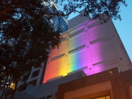 Outdoor Rainbow Light Install