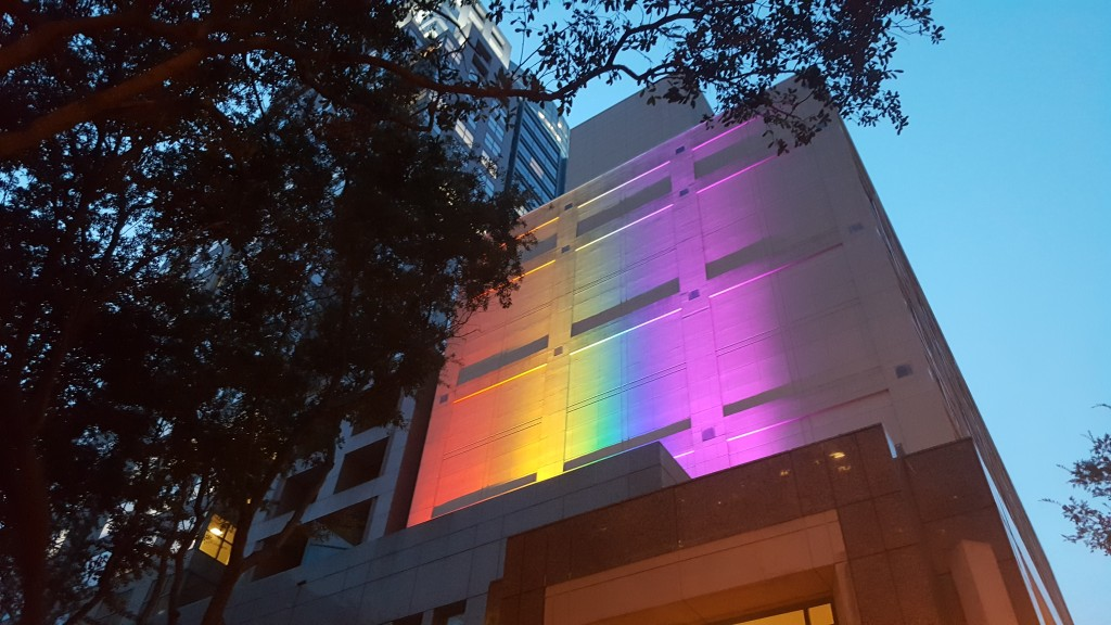 Outdoor Rainbow Light Install