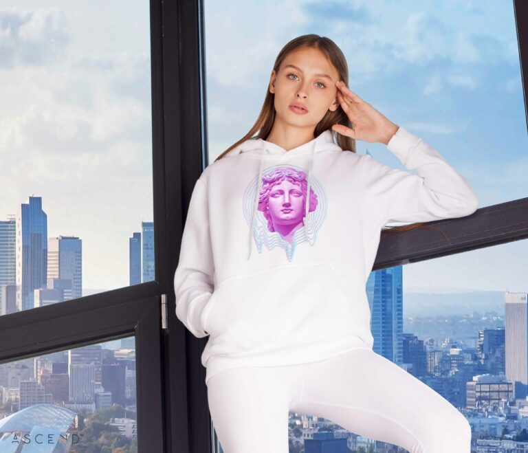 Queen Hoodie, White Front