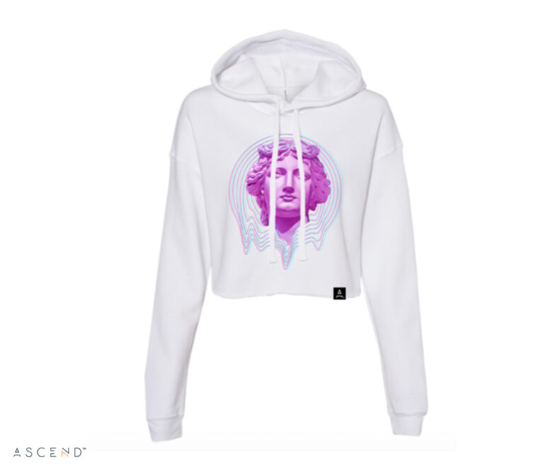 Queen Cropped Hoodie, Front