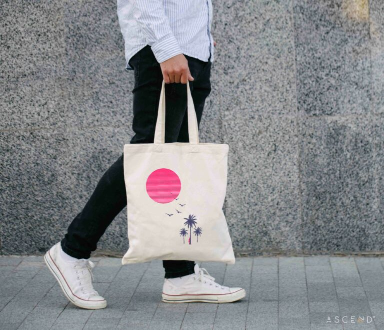 "ArtShop Canvas Tote ""The Rest of the World"""