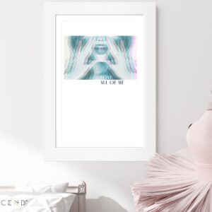 Love All of Me, Framed on Wall